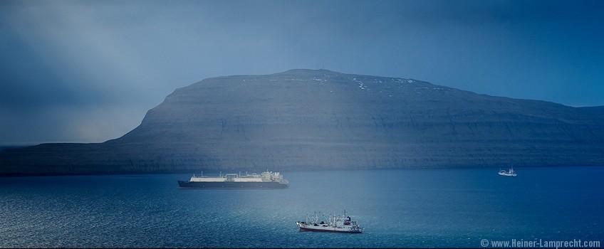 Vessels near Tórshavn Harbour